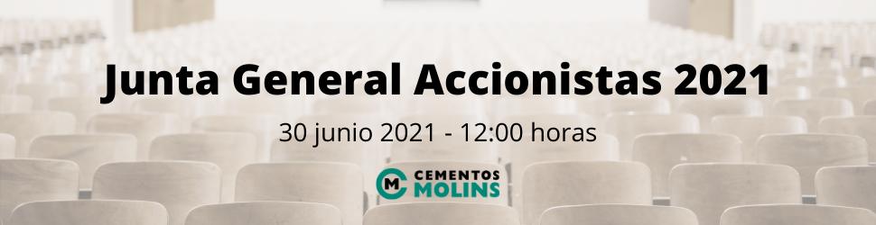Junta General Accionistas 2021 Cementos Molins